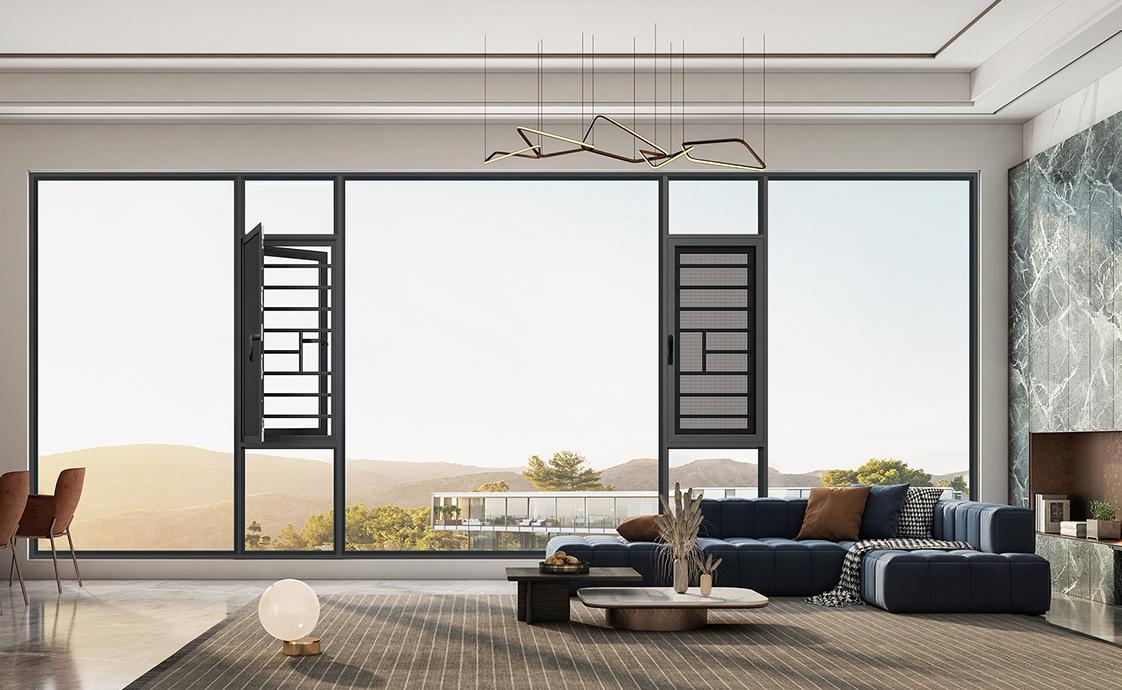 110窗纱—体系统平开窗