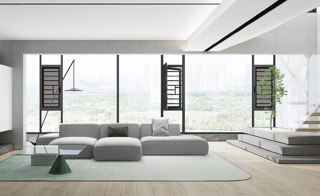 120窗纱—体系统平开窗